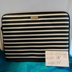KATE SPADE BLACK AND WHITE LAPTOP/TABLET CASE